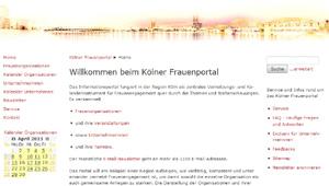 Kölner Frauenportal mit Veranstaltungskalender